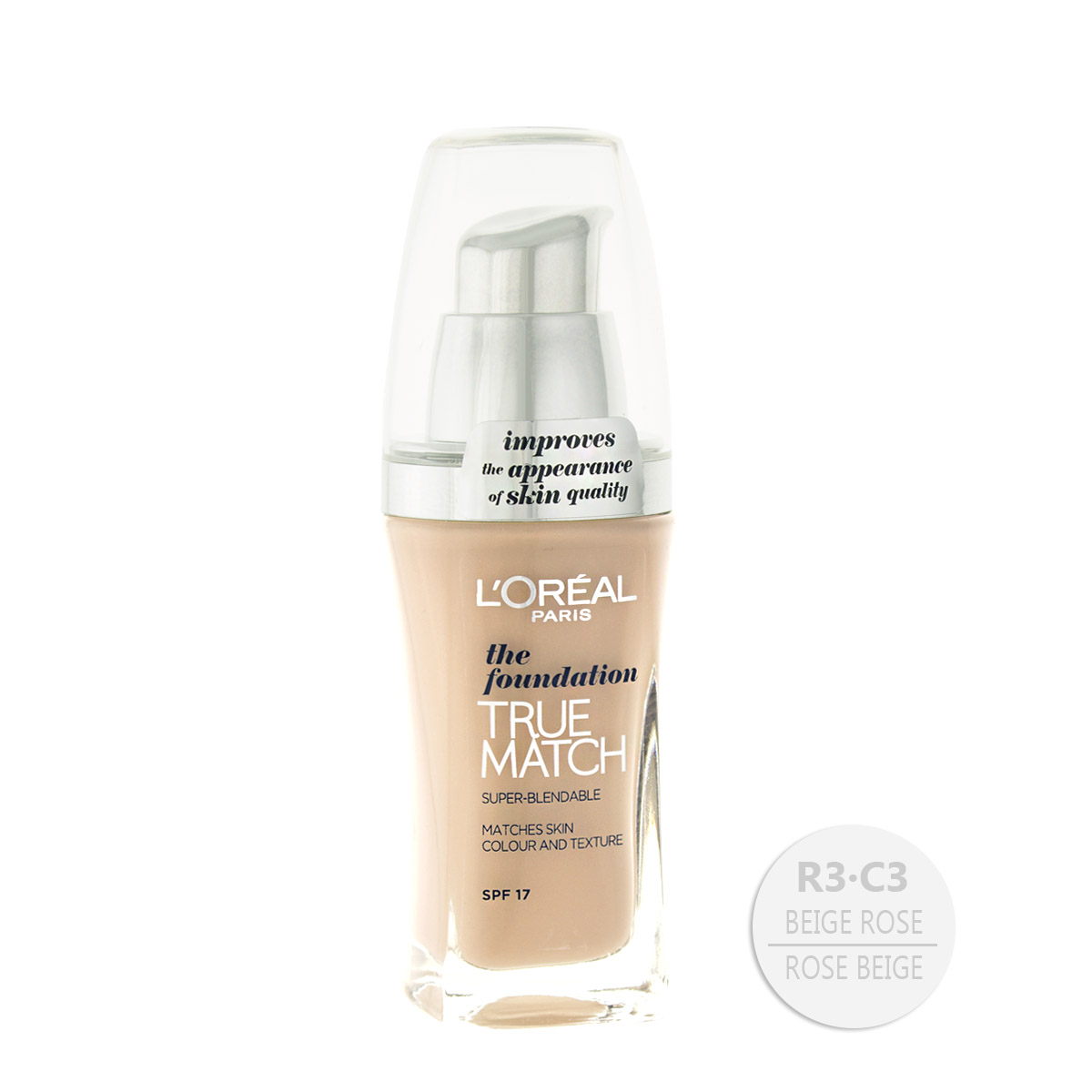 L´Oreal Paris True Match the foundation make-up (R3/C3 Rose Beige) 30 ml