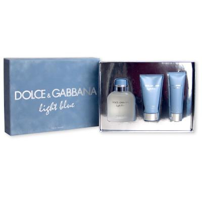Dolce & Gabbana Light Blue pour Homme EDT 125 ml + ASB 75 ml + SG 50 ml M