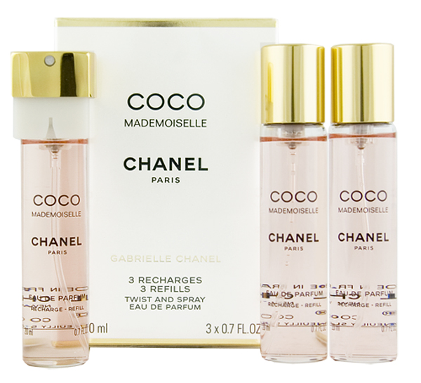 Chanel Coco Mademoiselle EDP náplň 2 x 20 ml + EDP náplň s rozprašovačem 20 ml W