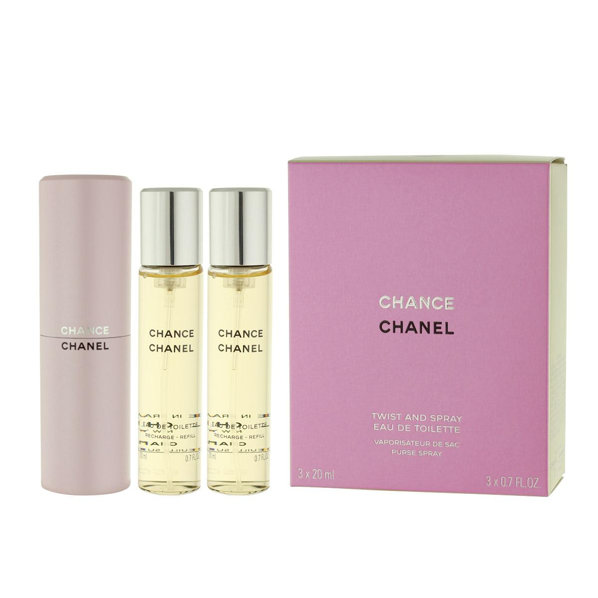 Chanel Chance EDT plnitelný 20 ml + EDT náplň 2 x 20 ml W