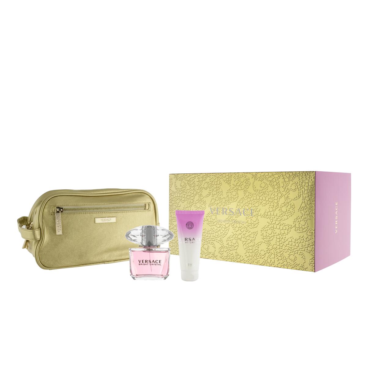Versace Bright Crystal EDT 90 ml + BL 100 ml + kosmetická taška W