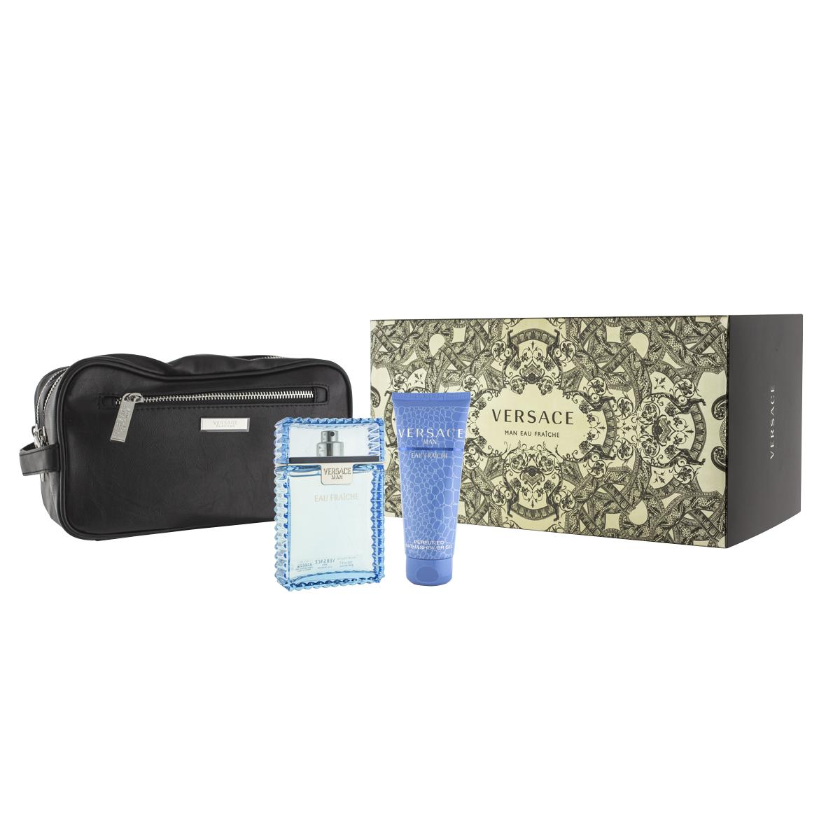 Versace Man Eau Fraîche EDT 100 ml + SG 100 ml + kosmetická taška M