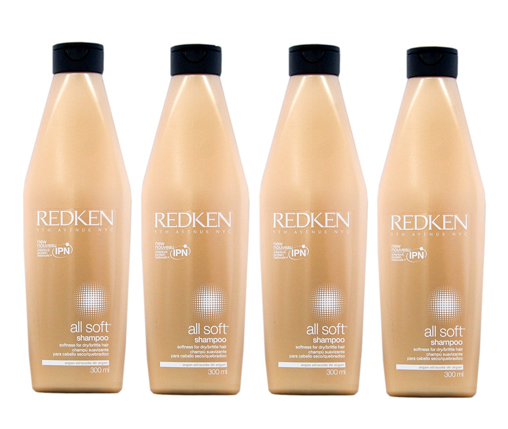 Redken All Soft Shampoo 4 x 300 ml