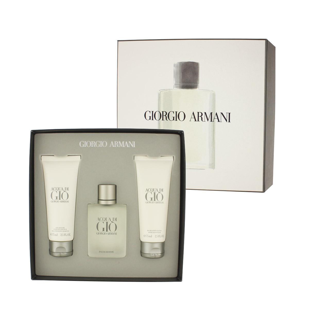 Armani Giorgio Acqua di Gio Pour Homme EDT 50 ml + ASB 75 ml + SG 75 ml M