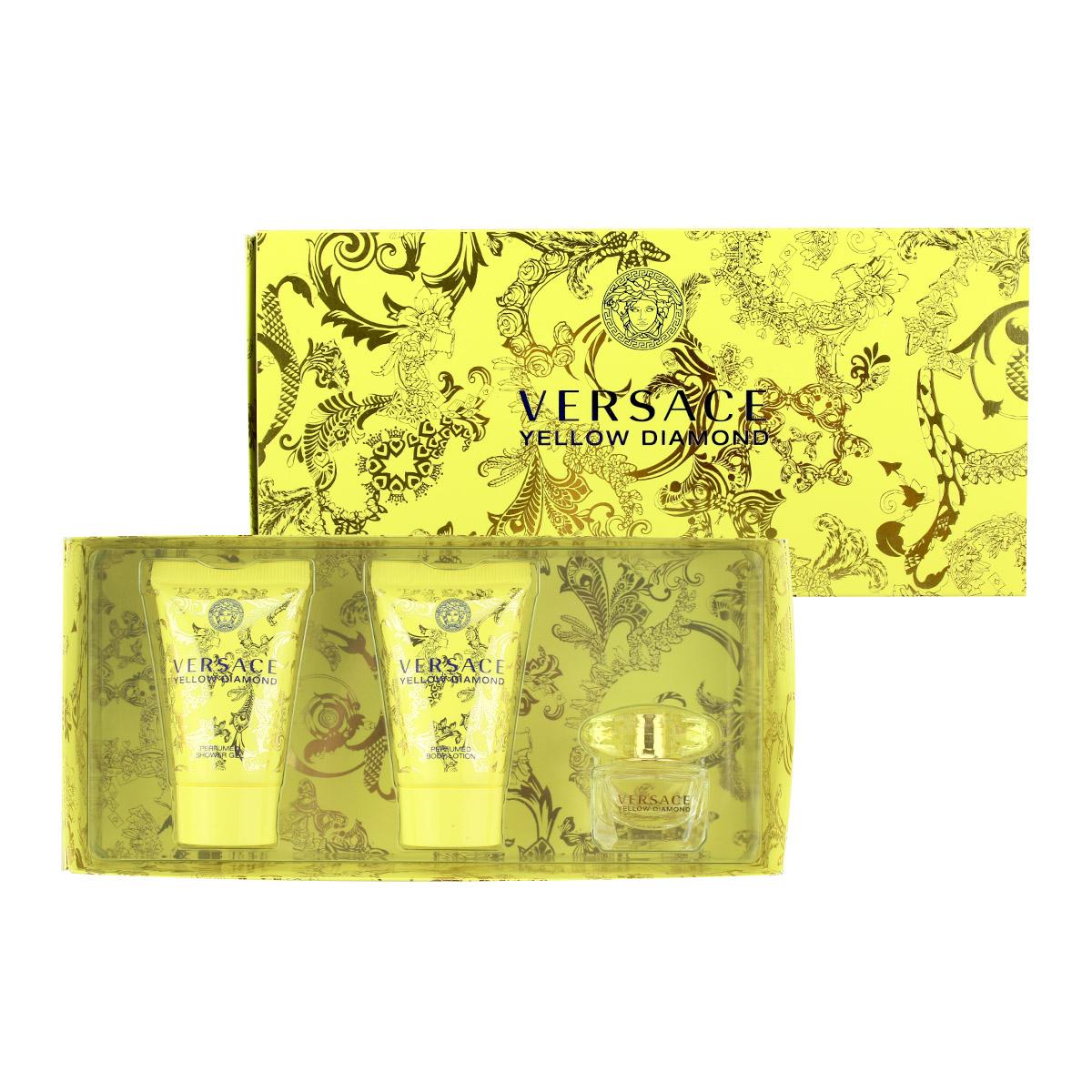 Versace Yellow Diamond EDT MINI 5 ml + SG 25 ml + BL 25 ml W