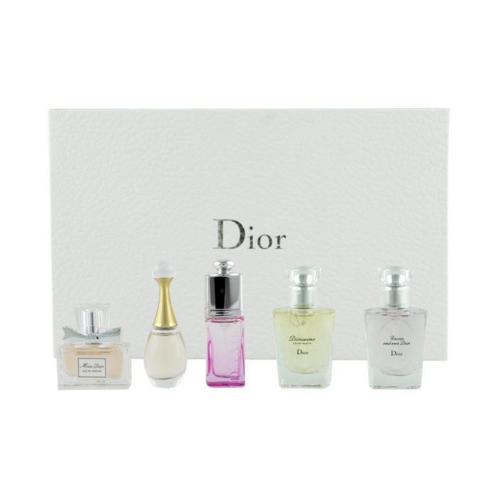 Dior Christian dárková sada EDP MINI 7,5 ml + EDP MINI 5 ml + EDT MINI 3 x 7,5 ml W