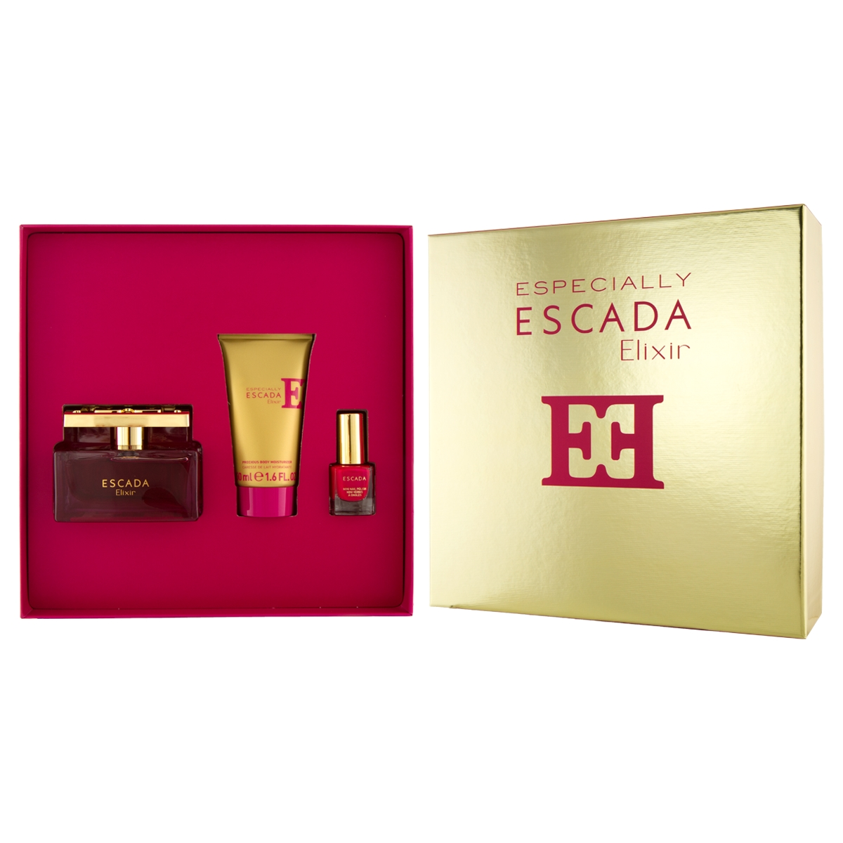 Escada Especially Elixir EDP 75 ml + BL 50 ml + lak na nehty 4,5 ml W