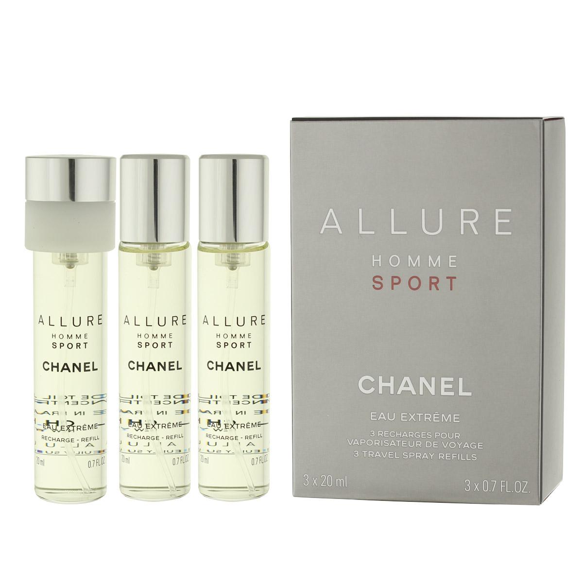 Chanel Allure Homme Sport Eau Extrême EDT náplň 2 x 20 ml + EDT náplň s rozprašovačem 20 ml M