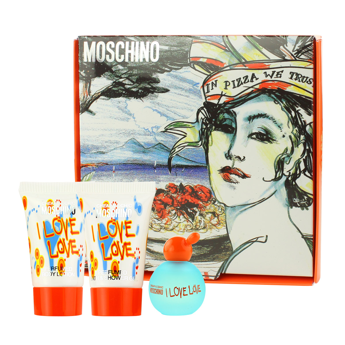 Moschino Cheap & Chic I Love Love EDT MINI 4,9 ml + SG 25 ml + BL 25 ml W