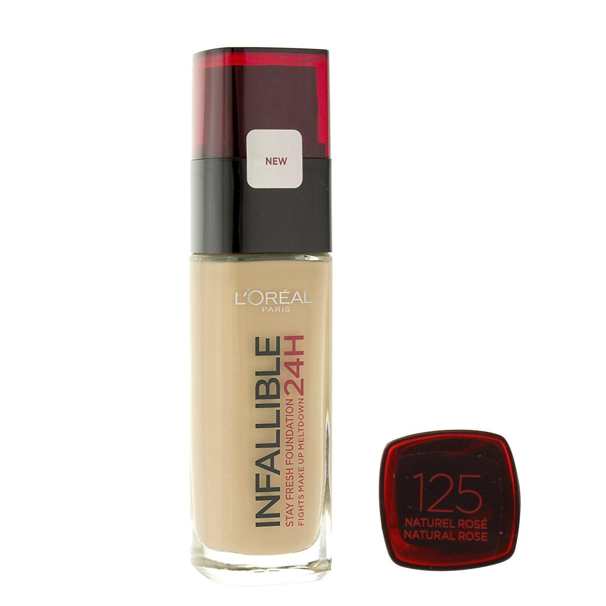 L´Oreal Paris Infallible 24H make-up (125 Natural Rose) 30 ml
