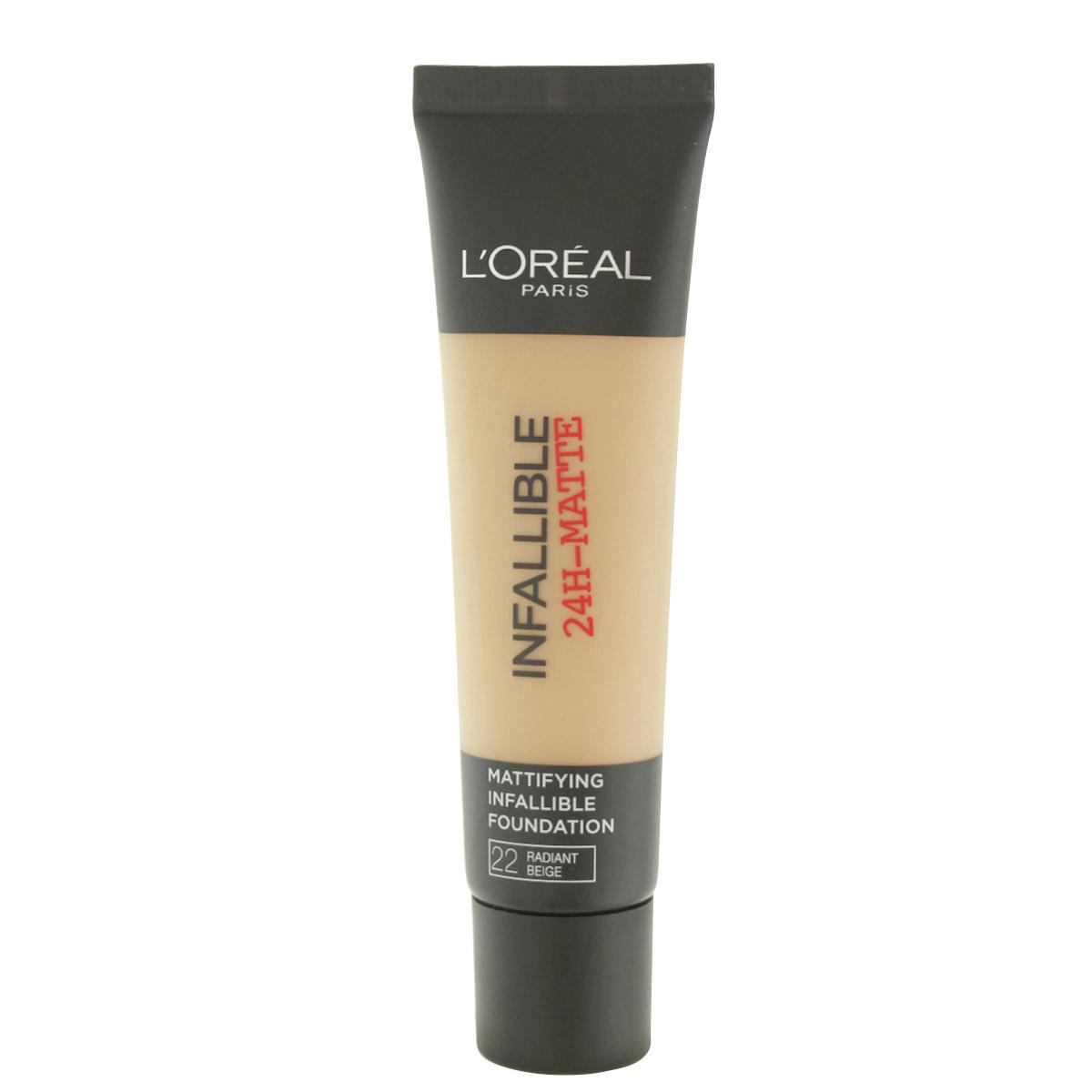 L´Oreal Paris Infallible 24H-Matte make-up (22 Radiant Beige) 30 ml