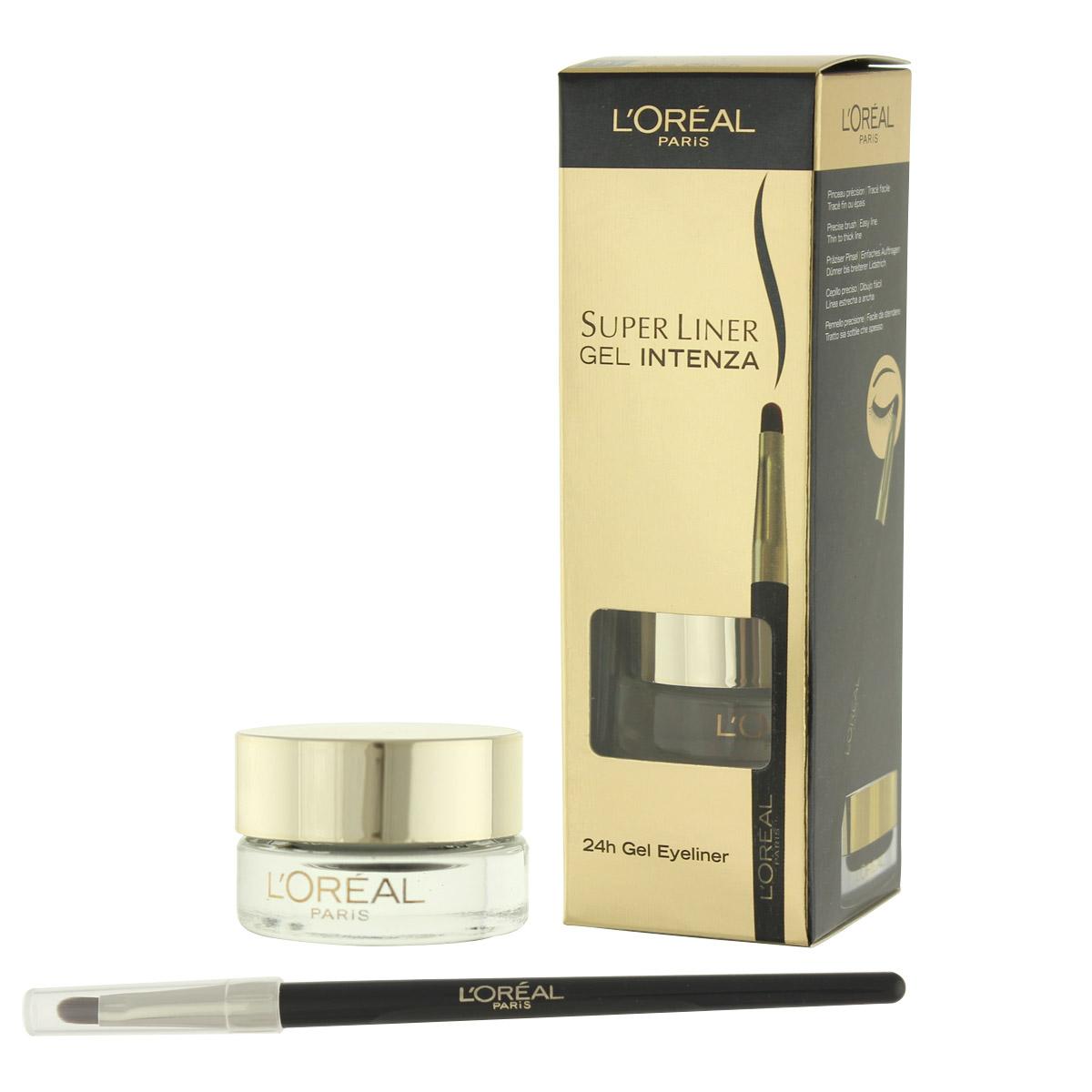 L´Oreal Paris Super Liner Gel Intenza voděodolné gelové oční linky (odstín 01 Pure Black) 2,8 gr