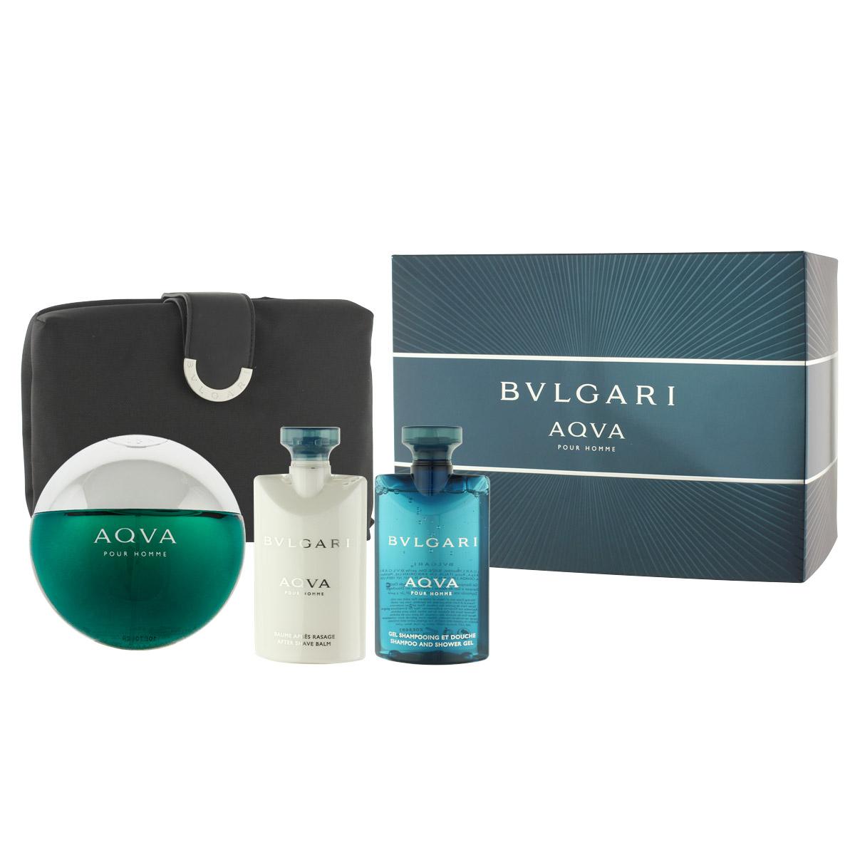Bvlgari Aqva Pour Homme EDT 100 ml + ASB 75 ml + SG 75 ml + kosmetická taška M