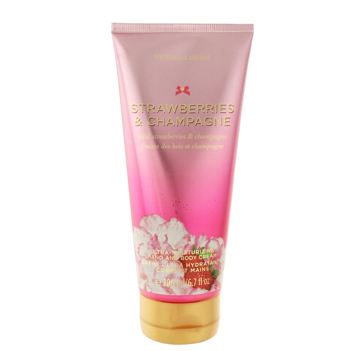 Victoria's Secret Strawberries & Champagne krém na ruce i tělo 200 ml W