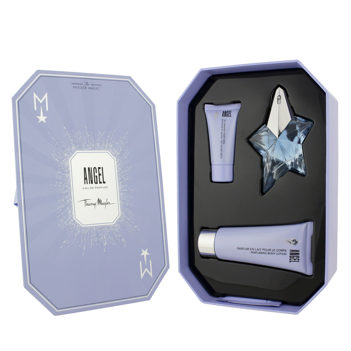 Thierry Mugler Angel EDP plnitelný 25 ml + SG 30 ml + BL 100 ml + BC 10 ml W