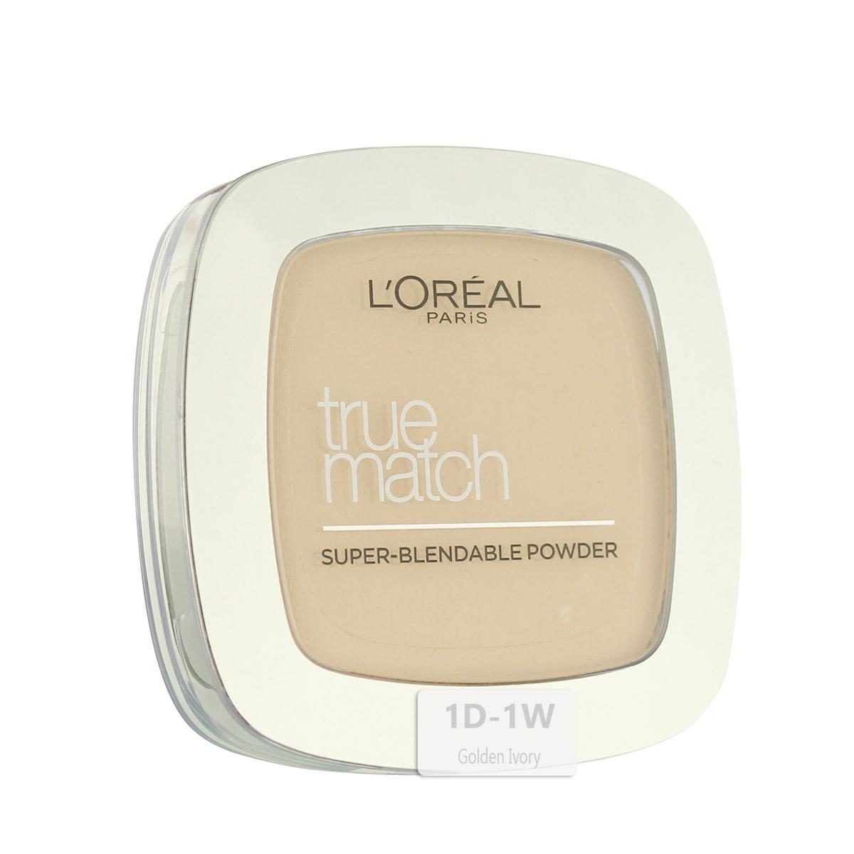 L´Oreal Paris True Match Super-Blendable Powder (1D/1W Golden Ivory) 9 g
