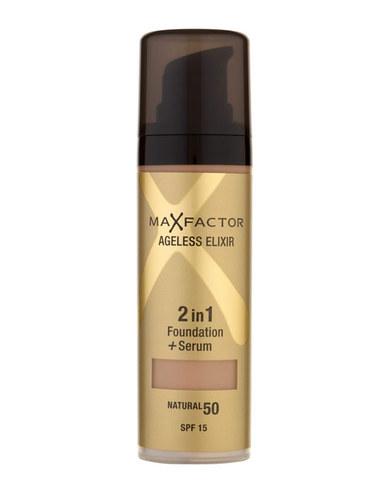 Max Factor Ageless Elixir 2v1 Foundation+Serum Make-Up SPF 15 (50 Natural) 30 ml