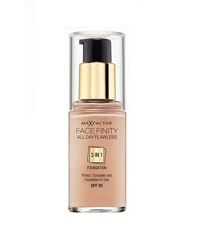 Max Factor All Day Flawless 3 in 1 Facefinity Foundation Make-Up SPF 20 (Golden 75) 30 ml