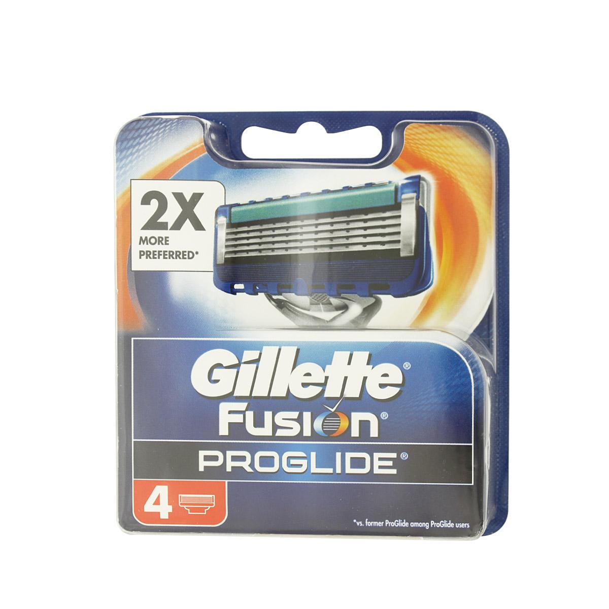 Gillette Fusion Proglide náhradní břity na holení 4 ks M