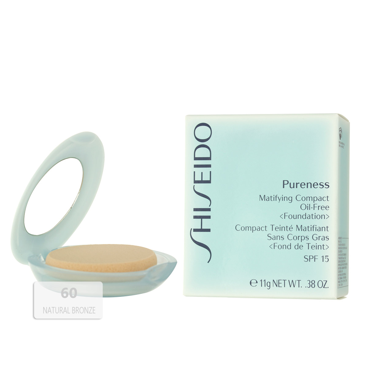 Shiseido Pureness Matifying Compact Oil-Free Foundation SPF 15 (60 Natural Bronze) 11 g