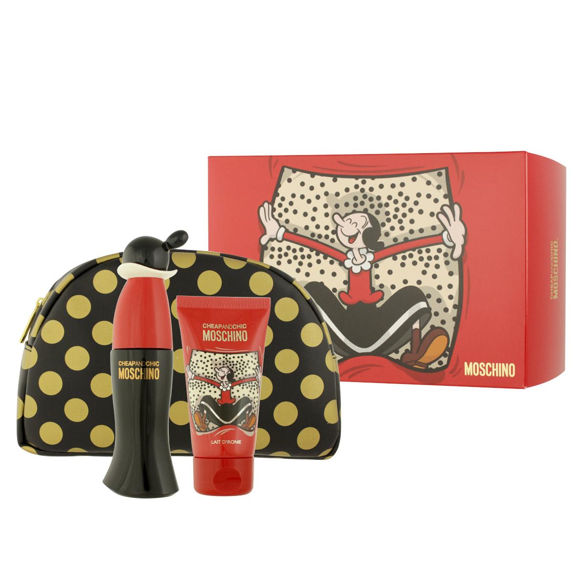 Moschino Cheap & Chic EDT 50 ml + BL 50 ml + kosmetická taška W