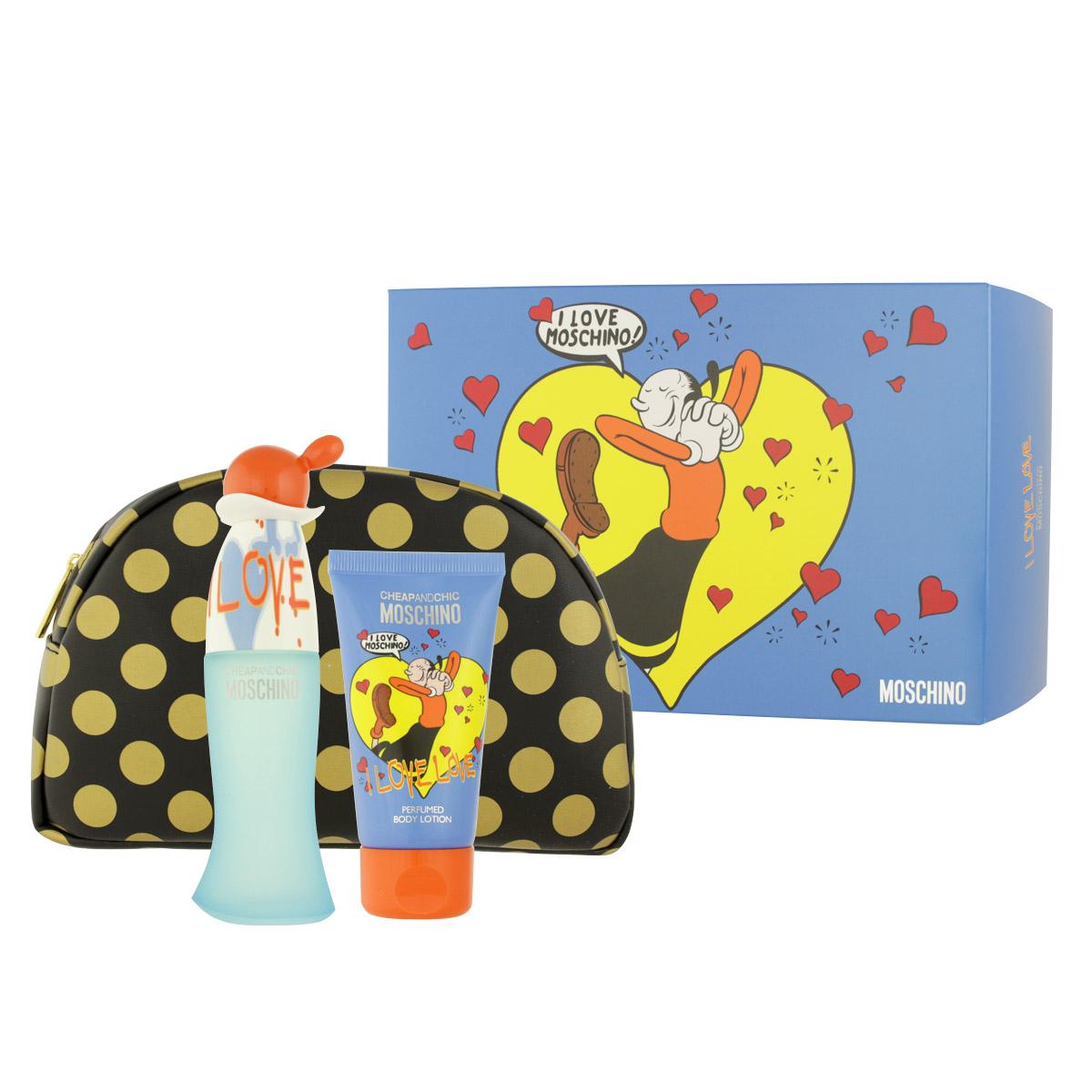 Moschino Cheap & Chic I Love Love EDT 50 ml + BL 50 ml + kosmetická taška W