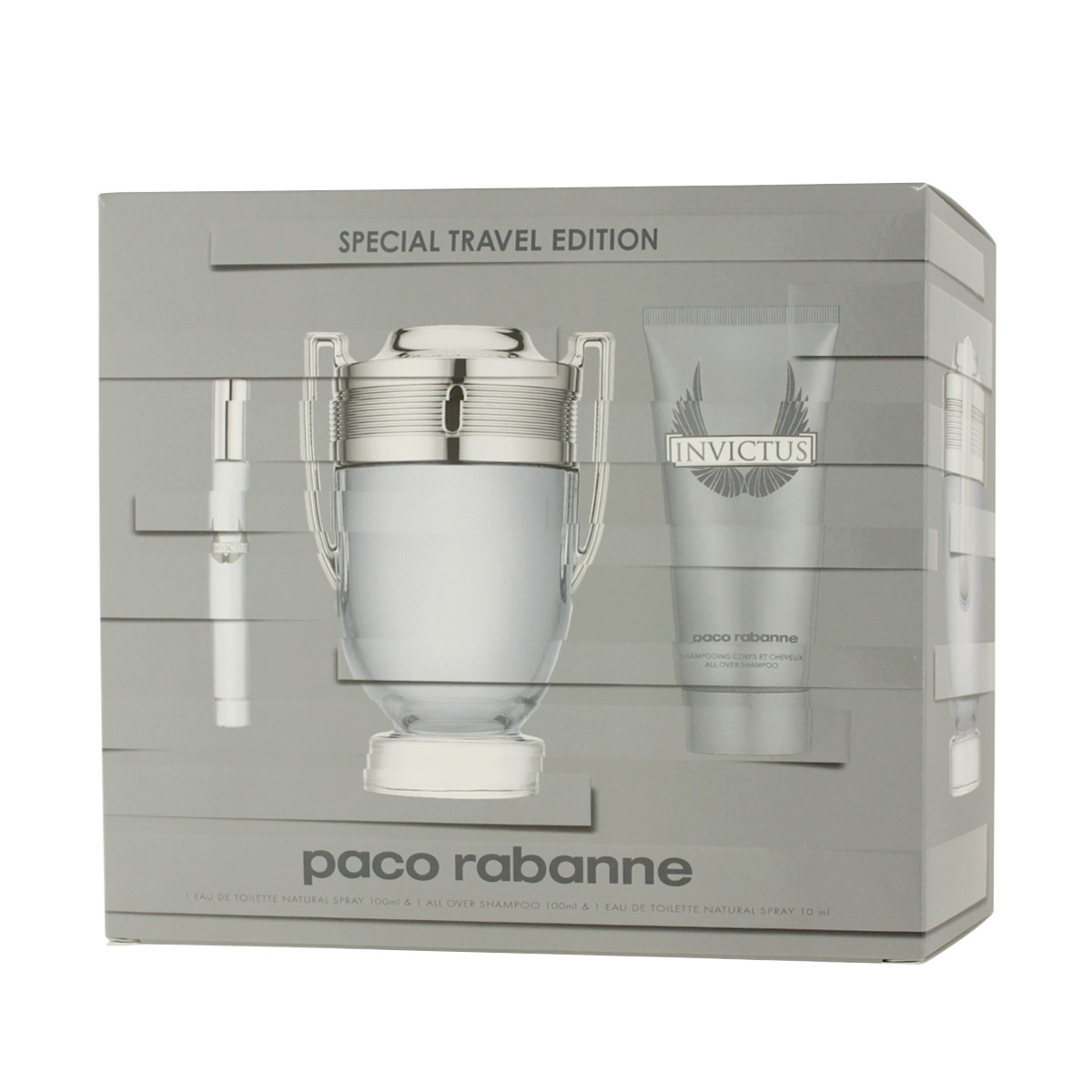 Paco Rabanne Invictus EDT 100 ml + EDT MINI 10 ml + SG 100 ml M