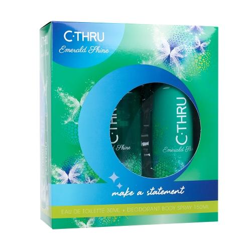 C-THRU Emerald Shine EDT 30 ml + DEO ve spreji 150 ml W