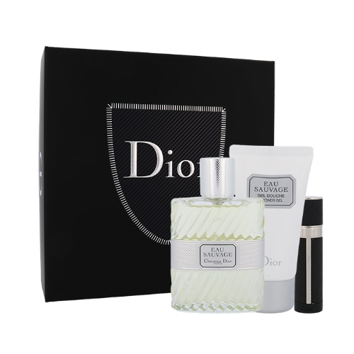 Dior Christian Eau Sauvage EDT 100 ml + EDT MINI plnitelný 3 ml + SG 50 ml M