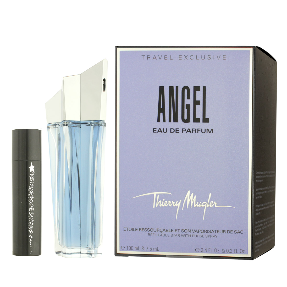 Thierry Mugler Angel EDP 100 ml + plnitelný flakón 7,5 ml W