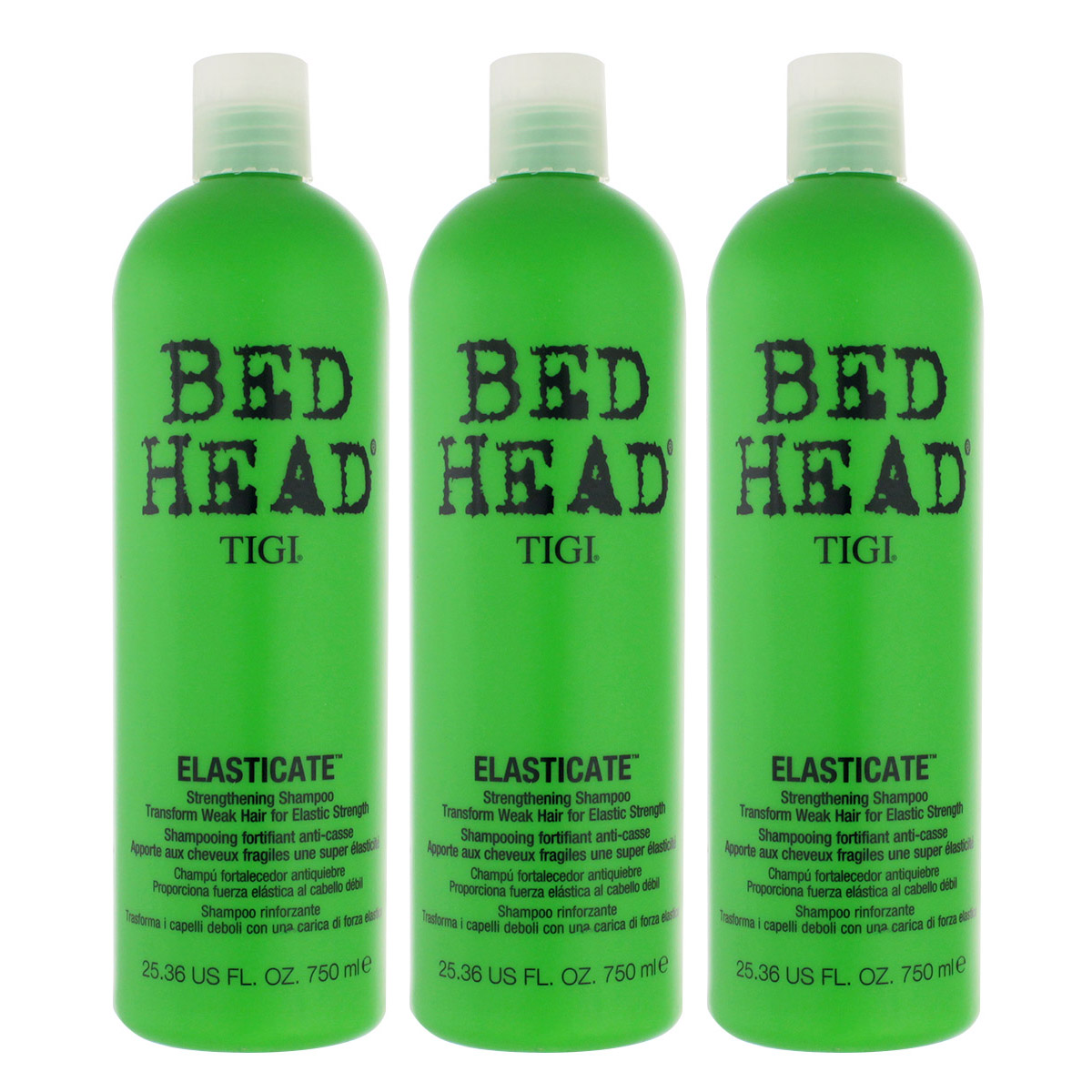 Tigi Bed Head Elasticate Strengthening Shampoo 3 x 750 ml