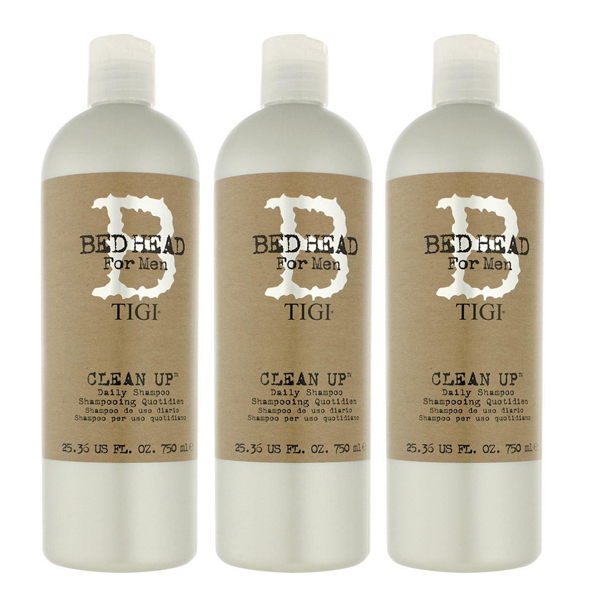 Tigi Bed Head Men Clean Up Shampoo 3 x 750 ml