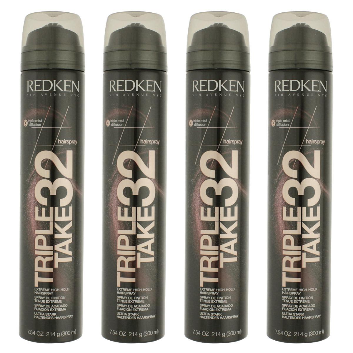 Redken Triple Take 32 Extreme High-Hold Hairspray 4 x 300 ml