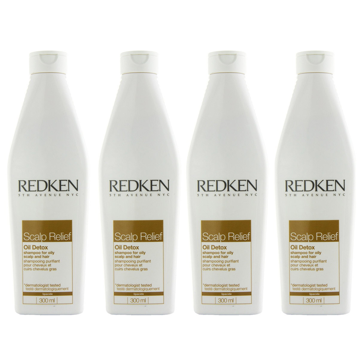 Redken Scalp Relief Oil Detox Shampoo 4 x 300 ml
