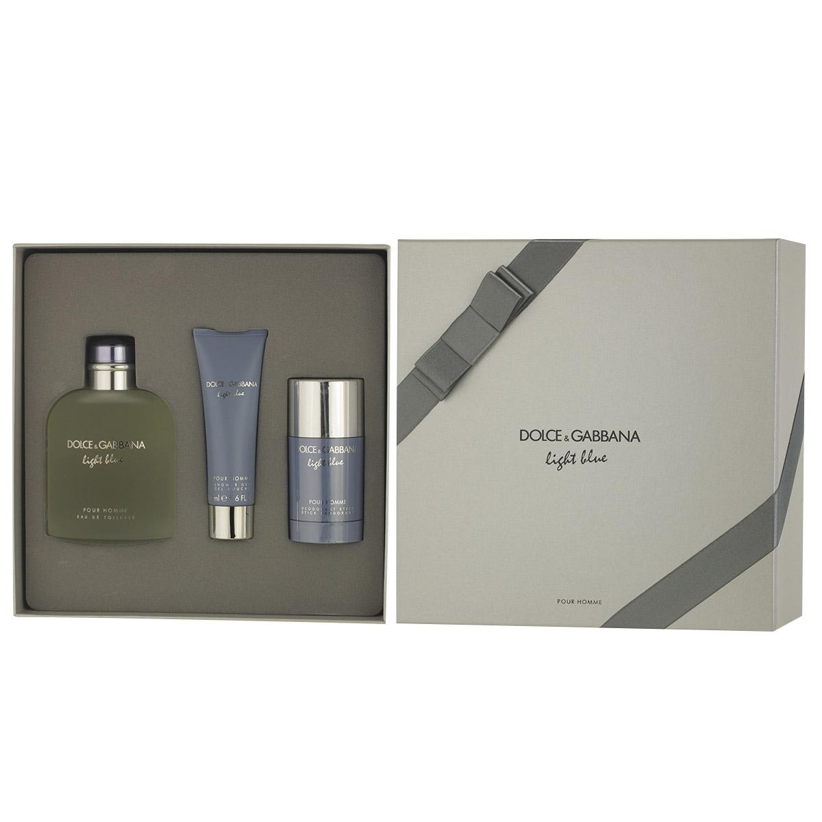 Dolce & Gabbana Light Blue pour Homme EDT 200 ml + DST 75 ml + SG 50 ml M