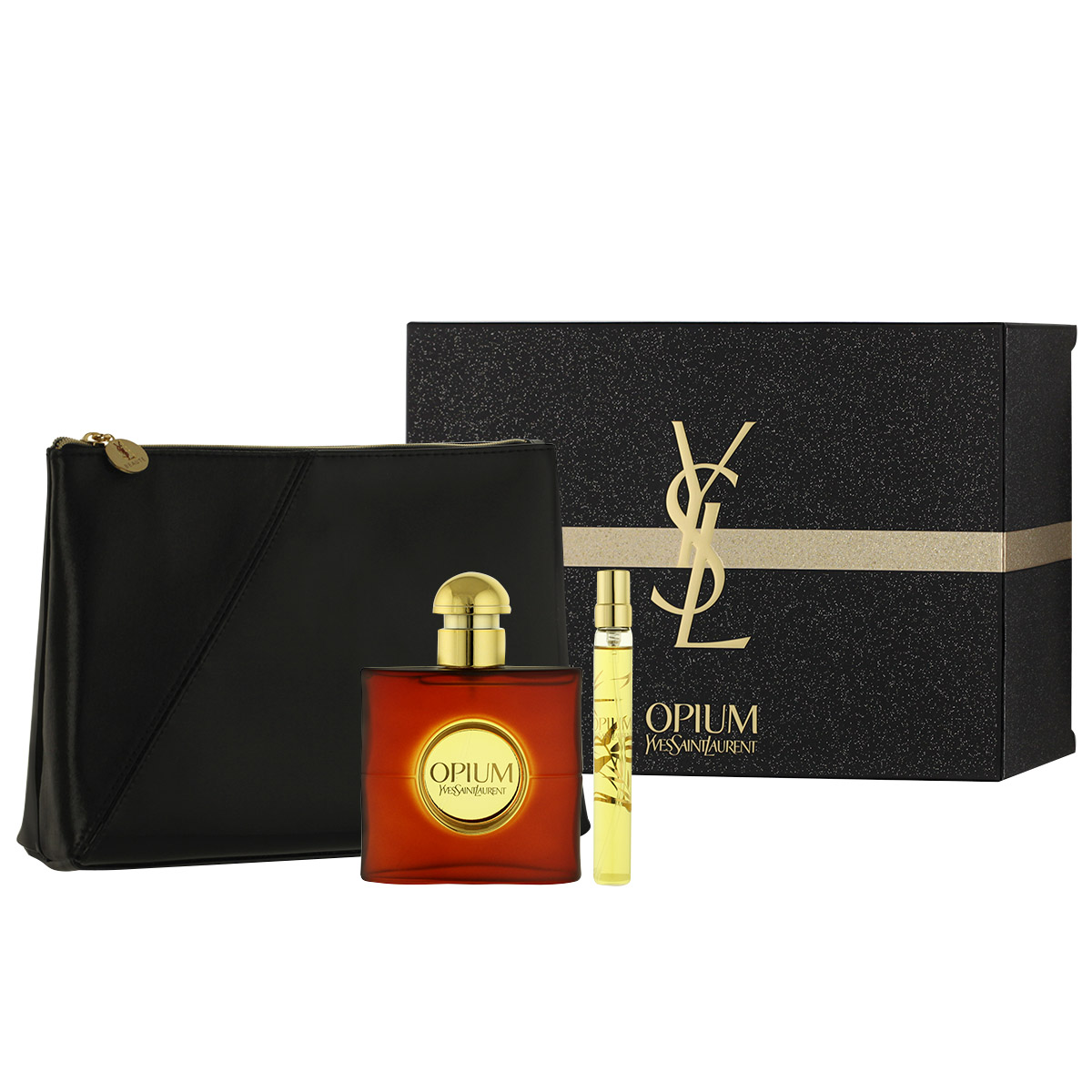 Yves Saint Laurent Opium 2009 EDT 50 ml + EDT 10 ml + kosmetická taška W