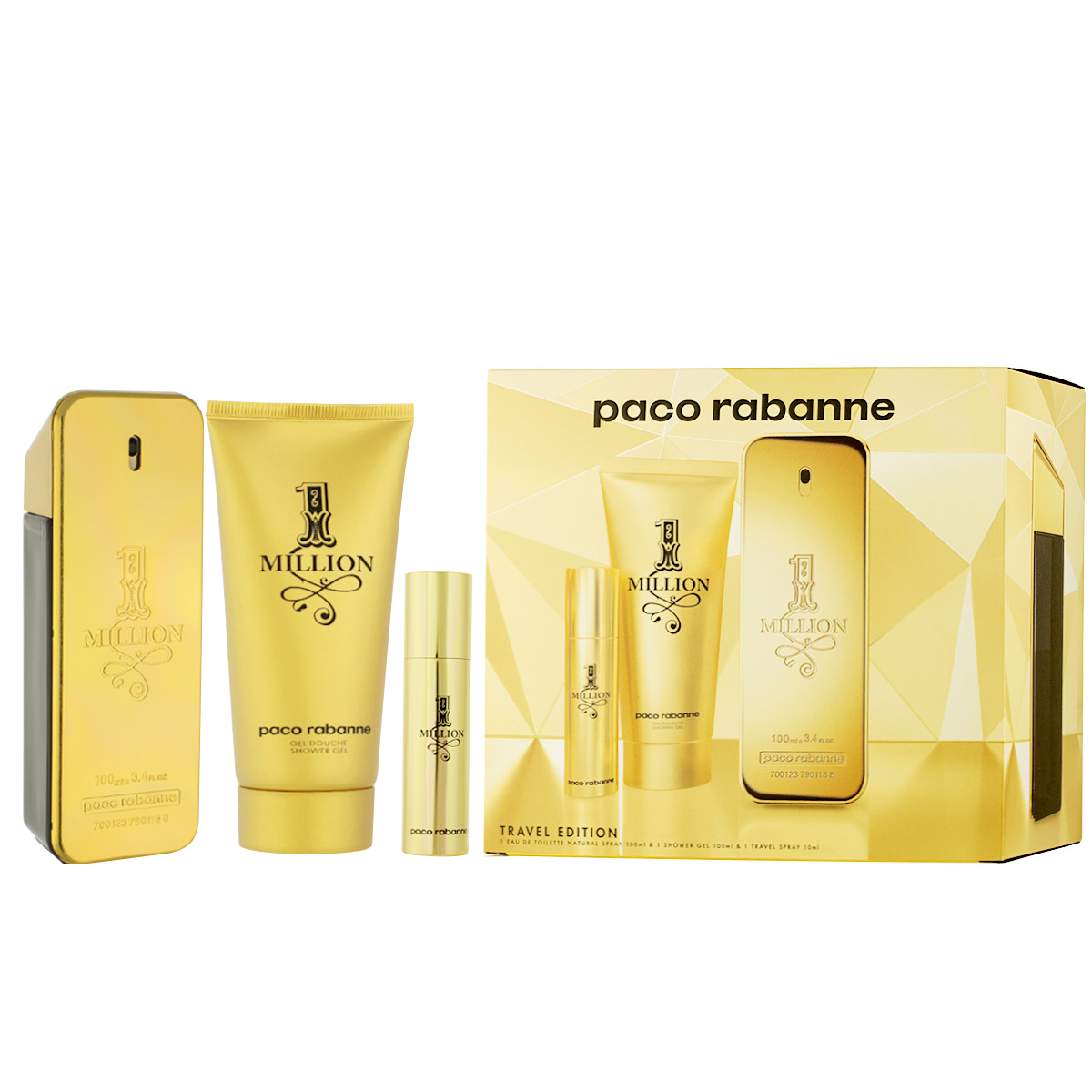 Paco Rabanne 1 Million EDT 100 ml + EDT MINI 10 ml + SG 100 ml M