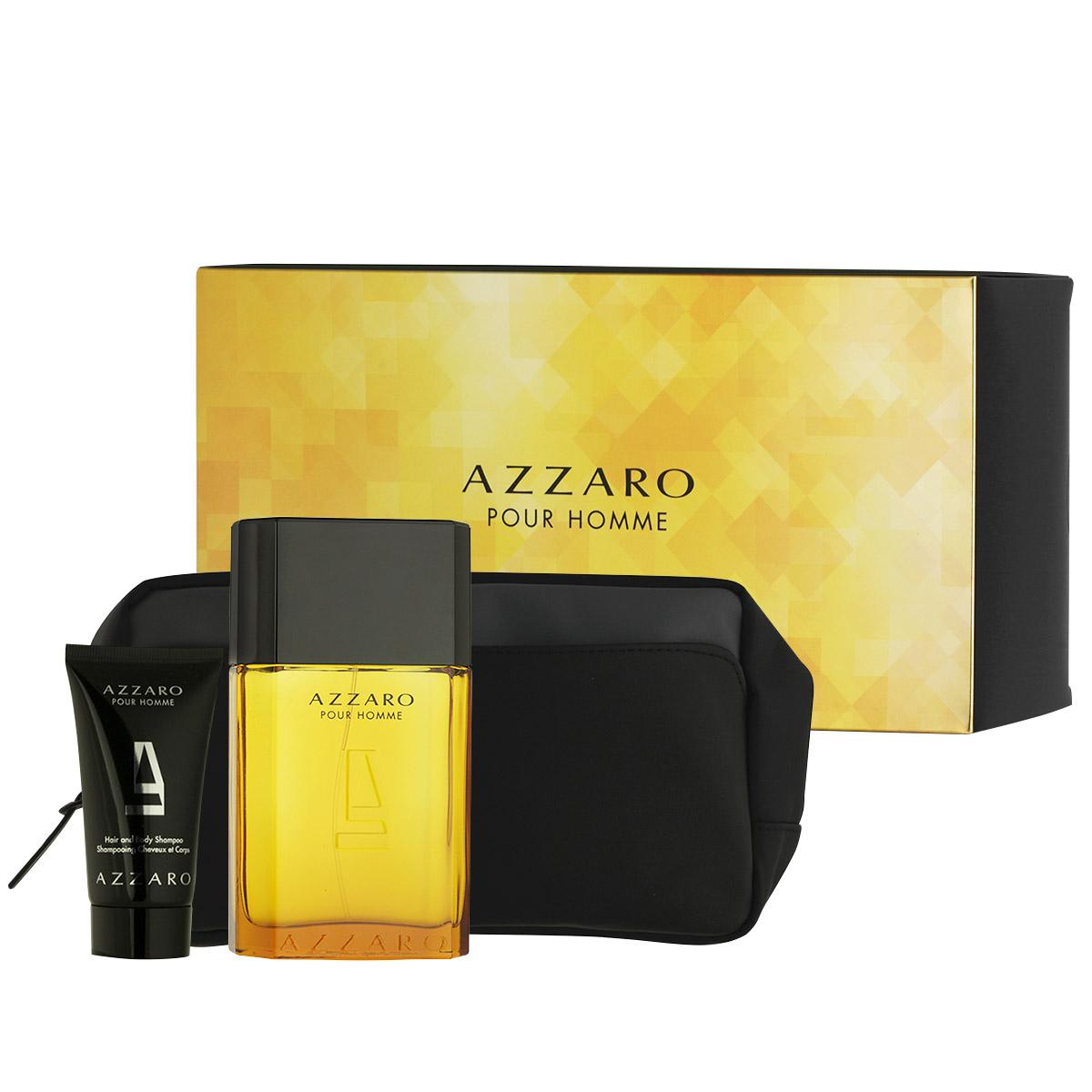 Azzaro Pour Homme EDT 100 ml + sprchový gel na tělo i vlasy 50 ml + kosmetická taška M