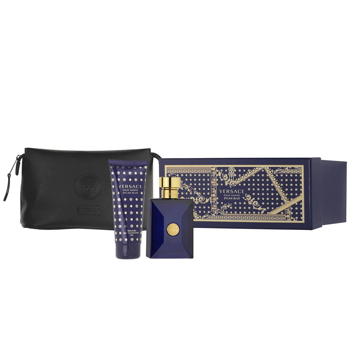 Versace Pour Homme Dylan Blue EDT 100 ml + SG 100 ml + kosmetická taška M