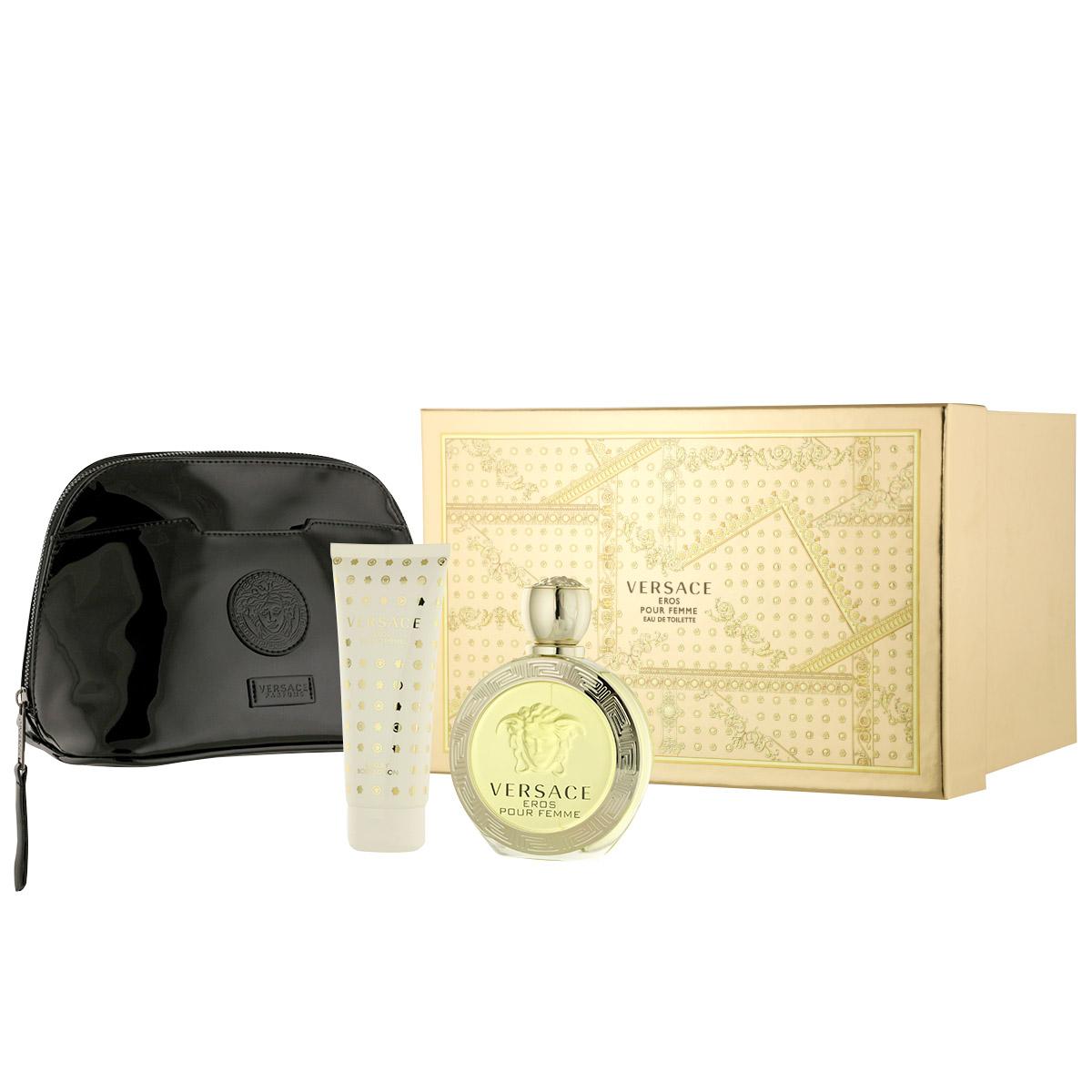 Versace Eros pour Femme EDT 100 ml + BL 100 ml + kosmetická taška W