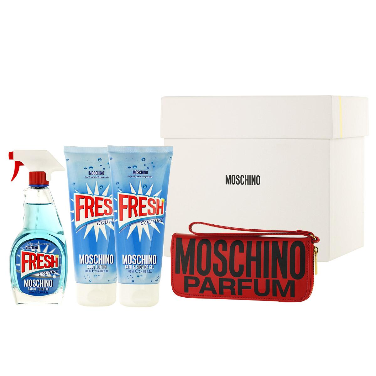 Moschino Fresh Couture EDT 100 ml + SG 100 ml + BL 100 ml + manikúrní sada W