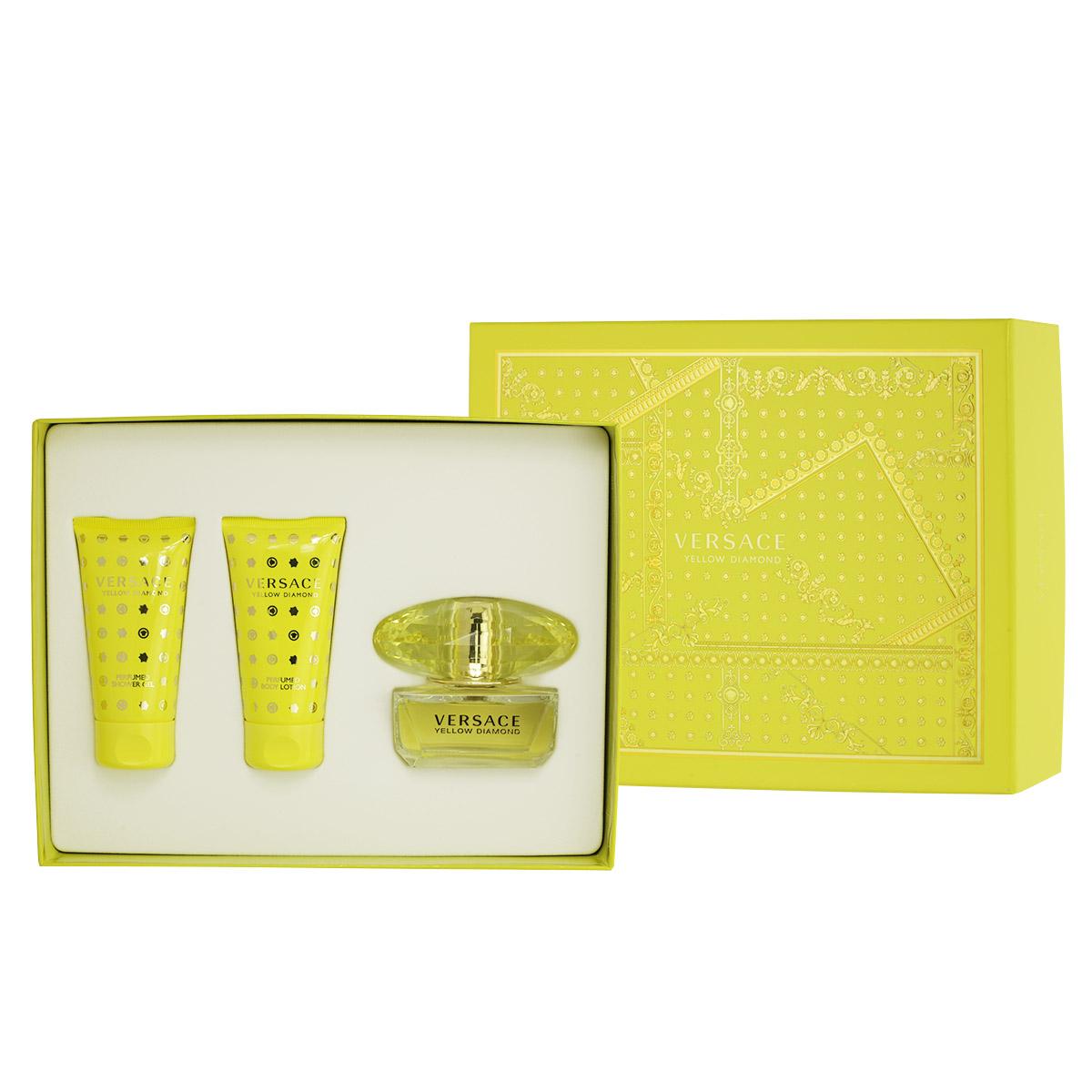 Versace Yellow Diamond EDT 50 ml + SG 50 ml + BL 50 ml W