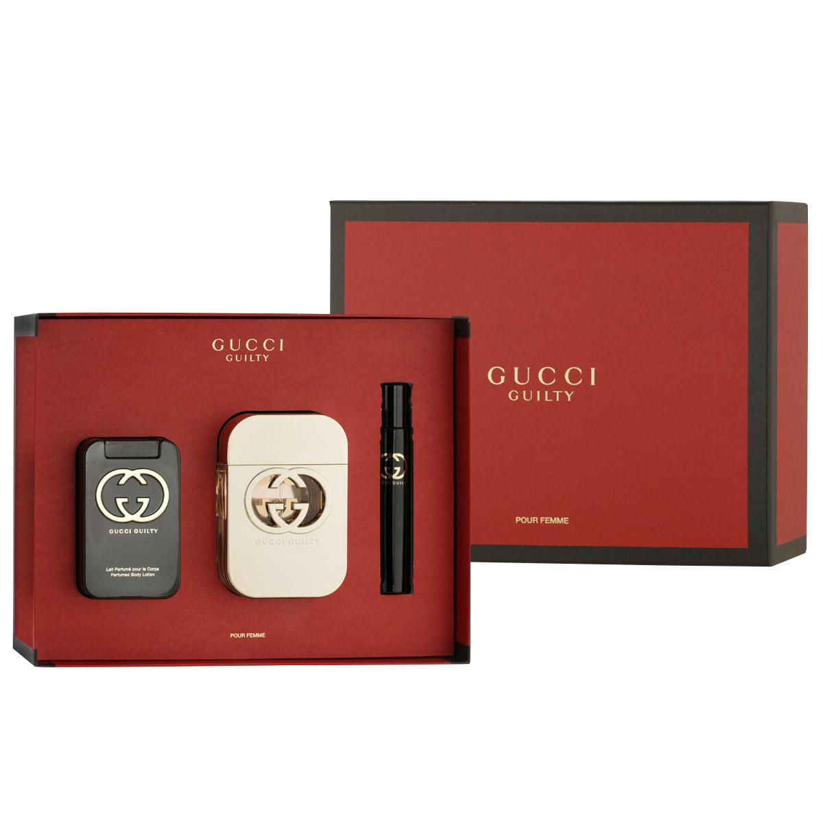 Gucci Guilty Pour Femme EDT 75 ml + EDT MINI 7,4 ml + BL 100 ml W