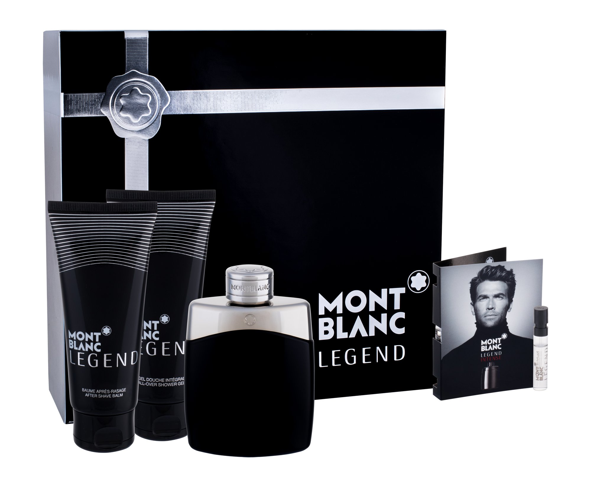 Mont Blanc Legend for Men EDT 100 ml + ASB 100 ml + SG 100 ml + EDT vzorek Legend Intense 1,2 ml M