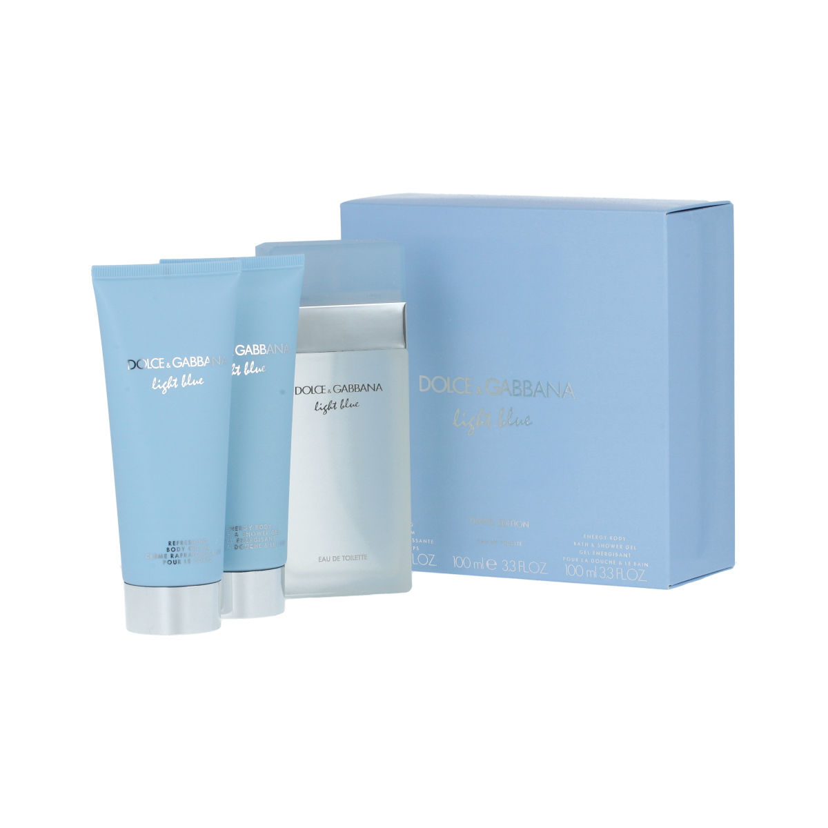 Dolce & Gabbana Light Blue EDT 100 ml + SG 100 ml + BC 100 ml W
