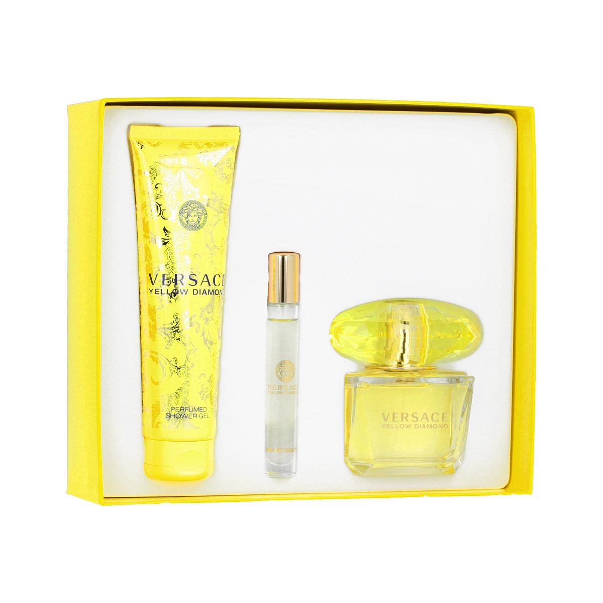 Versace Yellow Diamond EDT 90 ml + EDT Roll-On 10 ml + SG 150 ml W