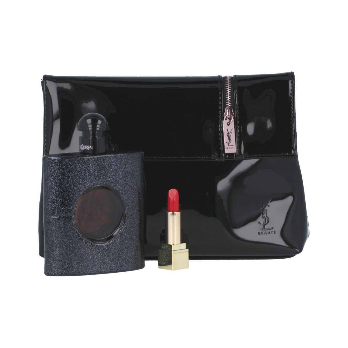 Yves Saint Laurent Black Opium EDP 90 ml + rtěnka Rouge Pur Couture 1,3 ml + kosmetická taška W