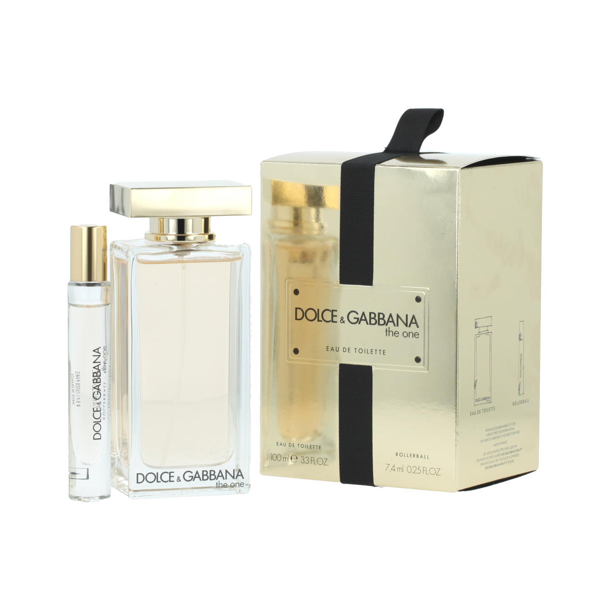 Dolce & Gabbana The One Eau de Toilette EDT 100 ml + EDT Roll-On 7,4 ml W