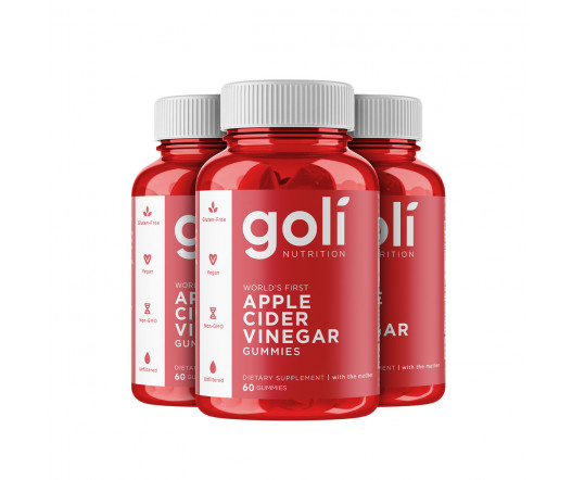 Goli Nutrition Apple Cider Vinegar Gummies 3 x 60 ks
