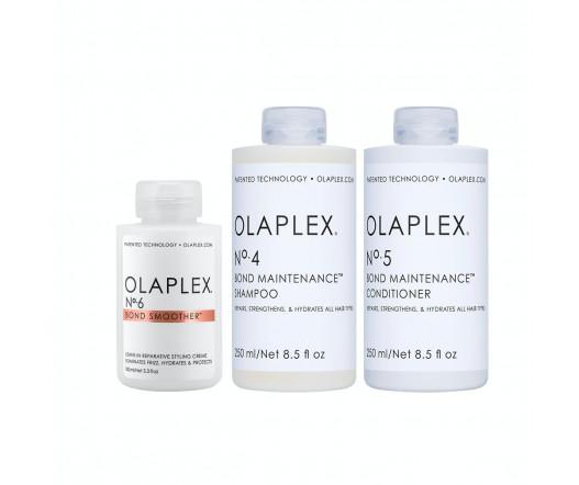 Olaplex No. 4 Shampoo 250 ml + No. 5 Conditioner 250 ml + No. 6 Bond Smoother 100 ml